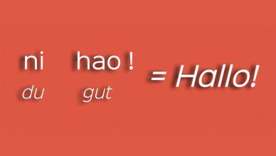 Hallo auf Chinesisch